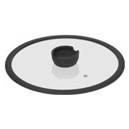 Стеклянная крышка с силиконовым ободом FÍna, 28 см