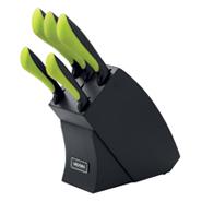 Набор из 5 кухонных ножей с блоком Jana