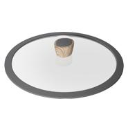 Стеклянная крышка с силиконовым ободом Mineralica, 28 см