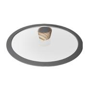 Стеклянная крышка с силиконовым ободом Mineralica, 26 см