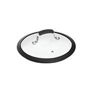 Стеклянная крышка с силиконовым ободом серии Lota 751415, 20 см
